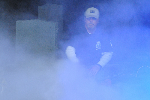 Bill Allanson wrangling the fog. Photo by Joanna Rish