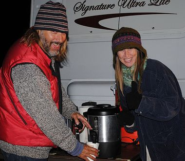 Steve and Kathleen Fox having fun serving coffee. Photo by Joanna Rish