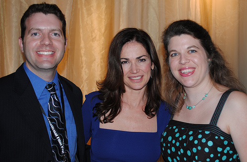 Brian and Jocelyn with Kim Delaney at BIFF