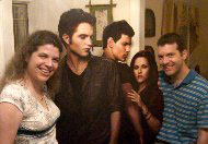 Jocelyn and Brian hanging with the Twilight crew