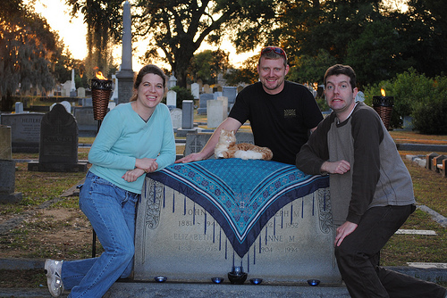 Jocelyn, Stuffy, Will, and Brian at graveside