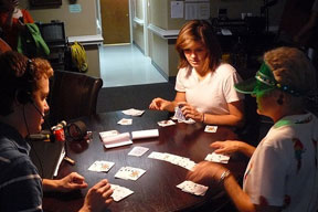 Rebecca Koon teaches a new card game