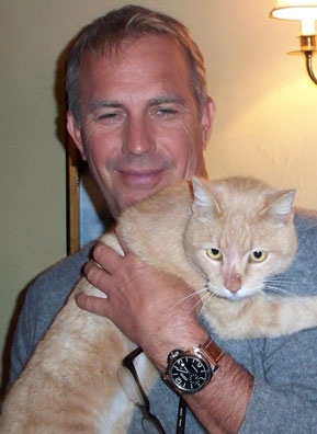 Kevin Costner with Marmalade